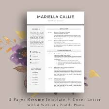 Pages Resume Template Adorable 48 Page Resume Template Cv Template Cover Letter Etsy