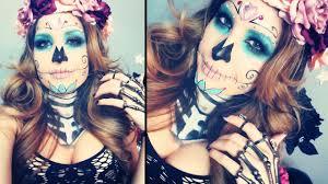 sugar skull makeup tutorial for missjessicaharlow you