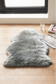 grey luxury faux sheepskin rug