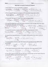 multi step conversion practice for students page 1 key