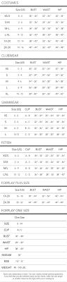 Forplaycatalog Com Size Charts