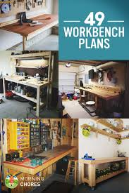Garage Workbench Plans And Patterns Amazing 48 Free DIY Workbench Plans Ideas To Kickstart Your Woodworking
