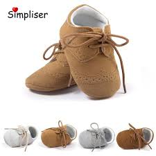 baby leather shoes lace up anti slip newborn baby girls boys moccasins soft soft infant toddler shoes first walkers outdoor shoe