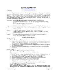 Sample Resume Net Developer Resume For Your Job Application