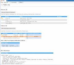 Redundant Index Analyzer - SQLyog Knowledge Base