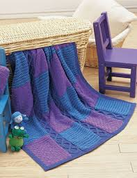 612 best KNITTED BLANKETS images on Pinterest | Knitting patterns ... & Yarnspirations.com - Patons Cables and Checks Blanket and Pillow - Patterns  | Yarnspirations. Free KnittingKnitting SquaresKnitted Afghans ... Adamdwight.com