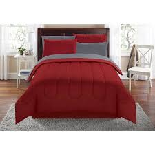 bed in a bag solid bed red bedding sets