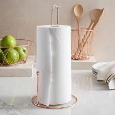 Kitchen towel holder Rose Gold West Elm Copper Wire Paper Towel Holder West Elm