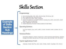 resume subheadings