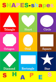 Details About Basic Shapes Children Kids Educational Poster Chart A4 Size School Home Learn