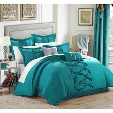 turquoise sheet set king chic home nancy turquoise 12 piece bed in a bag with sheet set king