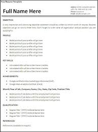 Microsoft Word Templates For Resumes Awesome Creating A Free Resume R How To Make A Free Resume On Free Resume