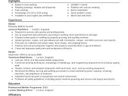 Welder Resume Inspiration Sample Resume For Welder Innazous Innazous