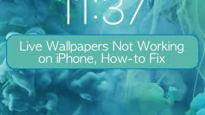 Live Wallpapers not working on iPhone ...