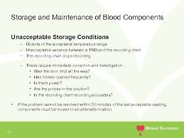 Temperature Maintenance Chart Storage And Record Keeping Requirements For Transfusable Blood