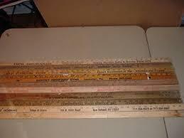 10 yardsticks wooden advertising pennsylvania