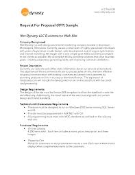 Rfp Proposal Cover Letter