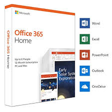Microsoft Office 365 Home Up To 6 Users 1 Year Pc Mac Box