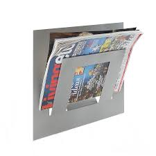 wall mounted single tier magazine rack by the metal house limited