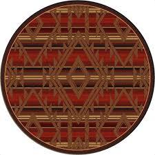 spirit of santa fe round rug