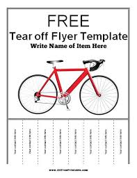 Flyer With Phone Number Tabs Pull Tab Flyer Template Tear Off Templates Excel Formats