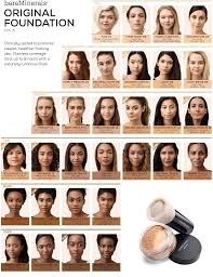 Bareminerals Original Foundation Colour Chart Pin By Ericka Williams On Makeup In 2019 Loose Powder