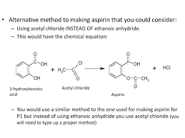 alternative method to making aspirin that you could consider