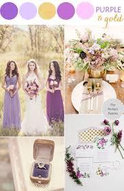 Romantic Wedding Style: Purple + Gold