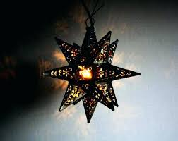 mexican star lighting tin hanging stars rustic star light fixture