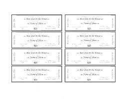 Raffle Ticket Template Word Printable Raffle Ticket