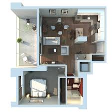Last Choice Kitchen In Front  Apartment D Floor Plan By - Studio apartment floor plans 3d