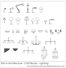 Cad Block Wall Light Pin On Architectural Drawings