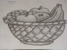 fruit bowl drawing with shading.  Drawing Amazinglty Draw Fruit Bowl  Fruits Basket Shading By PrinceInDeepThought  On DeviantArt On Fruit Bowl Drawing With Pinterest
