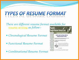 Different Types Of Resumes Different Resume Types Different Types .