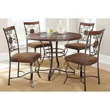 steve silver 5 piece tournament dining game table set with caster chairs cherry hayneedle