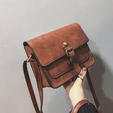 vintage women flap fashion casual leather shoulder bags