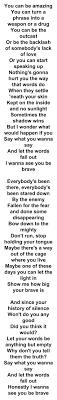 25 best ideas about Roar lyrics on Pinterest Inspirational song.