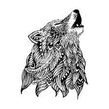 Fototapeta Wolf Tetování Ilustrace