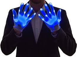 Light Up Gloves Amazon Neon Nightlife Boys Light Up Gloves Led Blue