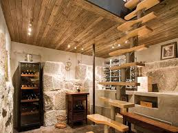 Fine Decorate Unfinished Basement Decorating Ideas Wine Cellar With Stylish On Modern Design