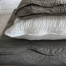 Bed & Bedding: Fill Your Bedroom With Breathtaking Quilted ... & Charcoal quilted bedspreads for elegant bedroom decoration ideas Adamdwight.com