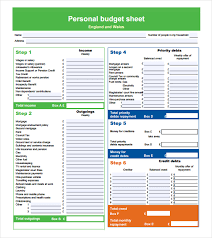sample personal budget 37 personal budget template free best photos of personal budget