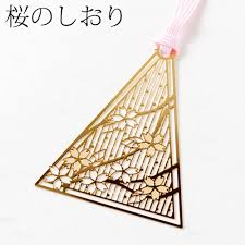 bookmark a cherry blossom skg001 gold bookmark series 24 k bookmark metal bookmark with a metal surface processing gold cherry