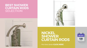 nickel shower curtain rods best shower curtain rods selection throughout size 1280 x 720