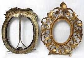 antique vintage 3pc metal oval picture frames ornate art nouveau 1830914461