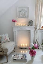 decorative fireplace mantel ornaments pillar candles white
