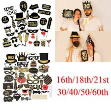 details about 16th 18th 30th 40th 50th 21st birthday party decorations photo booth props frame
