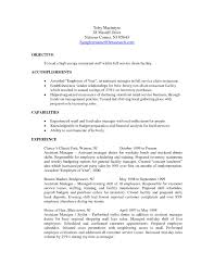 Resume Objective Sample For Hotel And Restaurant Management Refrence