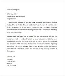 Bank Reference Letter 5 Free Samples Format Examples