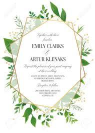 Wedding Invitation Floral Invite Save The Date Modern Card Design